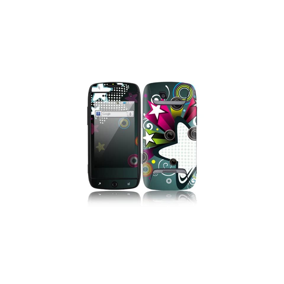 Retro Stars Decorative Skin Cover Decal Sticker for Samsung Sidekick 4G SGH T839 Cell Phone