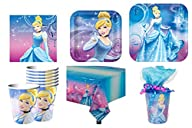 Disney Cinderella Party Supplies Standard Kit for 16 *Free Gift*
