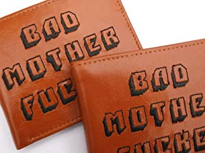 PULP FICTION BAD MOTHER FUCKER EMBROIDERED LEATHER WALLET (JULES LICENCE ENCLOSED)