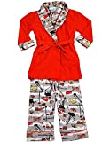 Bunz Kidz - Little Boys 3 Piece Robe and Pajama Set