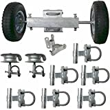ChainLink Rolling Gate Hardware Kit Slide Chain Link Fence Gate Kit Sliding Componets for Residential Commercial Kit Guide Rollers Mounting Brackets Wheels Latch