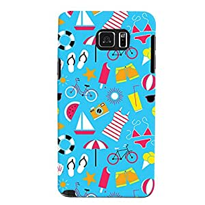ColourCrust Samsung Galaxy Note 5 Dual Sim / Edge Plus Mobile Phone Back Cover With Beach Pattern Style - Durable Matte Finish Hard Plastic Slim Case