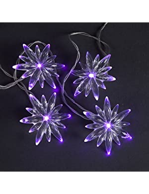 Click to buy 10 Battery Operated Snowflake LED Christmas Lights from Amazon!