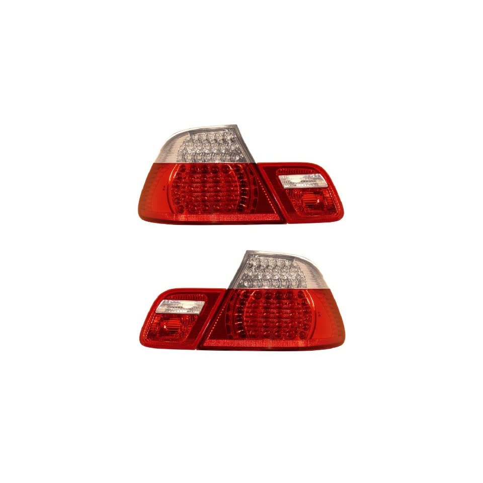 BMW 3 SERIES E46 99 08 CONVERTIBLE LED TAIL LIGHT SET RED/CLEAR 4 PCS NEW