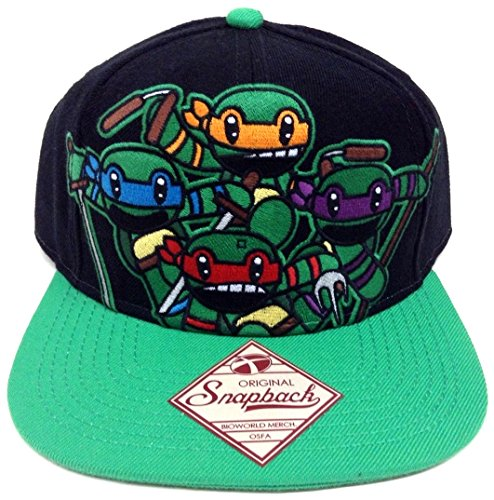 Black Animigos Teenage Mutant Ninja Turtles Snapback [Apparel]