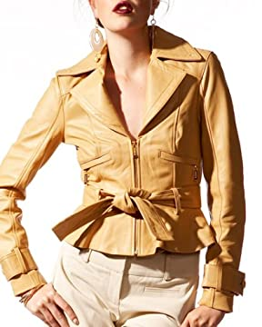bebe.com : Belted Leather Bomber from bebe.com