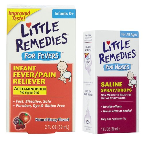 Little Remedies Fever Pain Reliever & Saline Spray/Drops For Stuffy Noses front-1042226