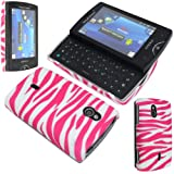 GLITZY GIZMOS PINK ZEBRA HARD BACK CASE COVER FOR SONY ERICSSON XPERIA MINI PRO SK17i