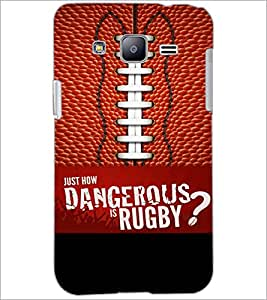 PrintDhaba Rugby D-5953 Back Case Cover for SAMSUNG GALAXY J2 (Multi-Coloured)