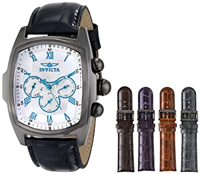 Invicta Men's 12643 Lupah Grand Collection Watch with Interchangeable Leather Straps Watch Set