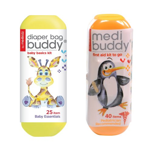 Me4Kidz Diaper Bag Budy Travel Kit With Medibuddy First Aid Kit - Penguin