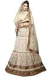 Manvaa Women Net Lehenga Choli(White_ASKLY57D_Free Size)