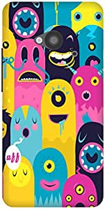 The Racoon Lean Monster Oye! hard plastic printed back case / cover for HTC One 802D