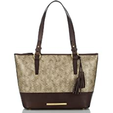 Medium Asher Tote<br>Brown Basket Weave