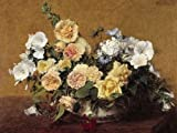 Bouquet de fleurs by Fantin-Latour, Henri - Fine Art Print on PAPER : 51.75 x 39 Inches
