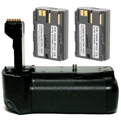 Opteka Battery Pack Grip for Canon EOS 20D & 30D Digital SLR Camera with 2 BP-511 Batteries (3400 mAh Total)