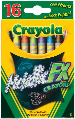 Crayola 16 Count Metallic FX Crayons - 1