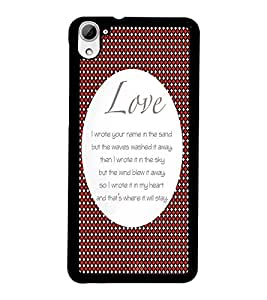 PrintDhaba Quote D-2900 Back Case Cover for HTC DESIRE 826 (Multi-Coloured)