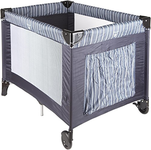 Big Oshi Pack 'N Play Playard with Carry Bag, Navy Stripe