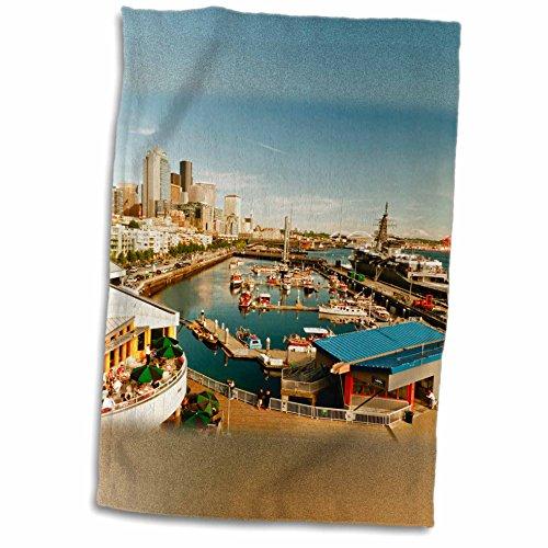 Danita Delimont - Seattle - USA, Washington, Seattle, Bell Street Pier - US48 RDU0473 - Richard Duval - 11x17 Towel (twl_148496_1)