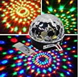 Super Beautiful LED RGB Crystal Magic Effect Ball light DMX Disco DJ Stage Lighting Play and Plug