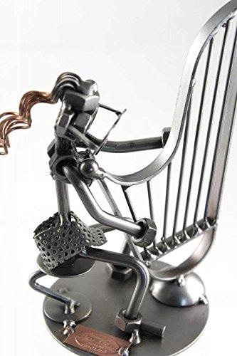 Hochwertiges-Schraubenmnnchen-Harfenspielerin-Schnes-Geschenk-fr-Musiker