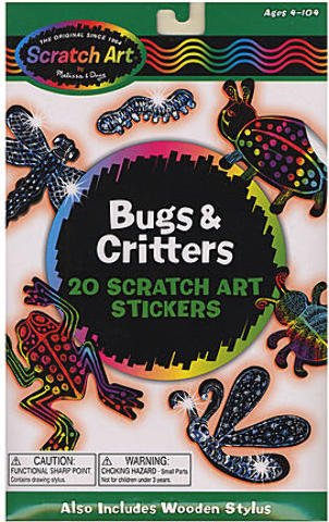 Scratch Art Stickers (Bugs & Critters)
