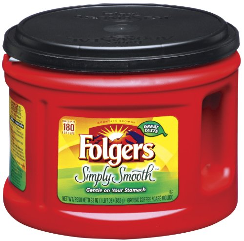 Folgers Simply Smooth Coffee, 23 Ounce (Pack of 6)