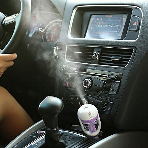 12V 2W Car Steam Humidifier Air Purifier Aroma Diffuser Essential Oil Diffuser Color:Pink (Steam Air Purifier compare prices)