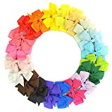 Jmkcoz 20pcs Hair Clips Boutique Hair Bows Fashion Grosgrain Ribbon Headbands Alligator Clips Barrettes For Girls Women 3
