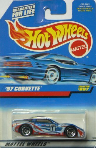 #867 1997 Corvette Collectible Collector Car Mattel Hot Wheels 1:64 Scale - 1
