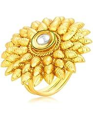Sukkhi Cluster Designer Traditional Cocktail Gold Plated Kundan Finger Ring For Women