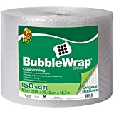 Duck Brand Bubble Wrap Original Cushioning, 12 Inches Wide x 150 Feet Long, Single Roll (284054)