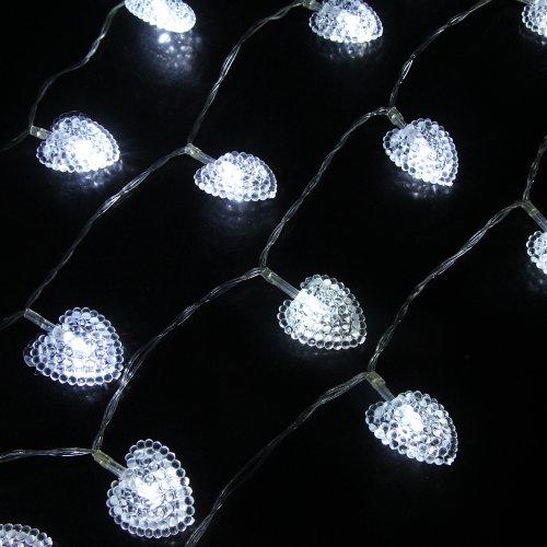 Battery String Lights For Bedroom : Innoo Tech InnooTech 4M 40 LED Battery String Lights Heart Fairy Lights for Indoor, Bedroom ...