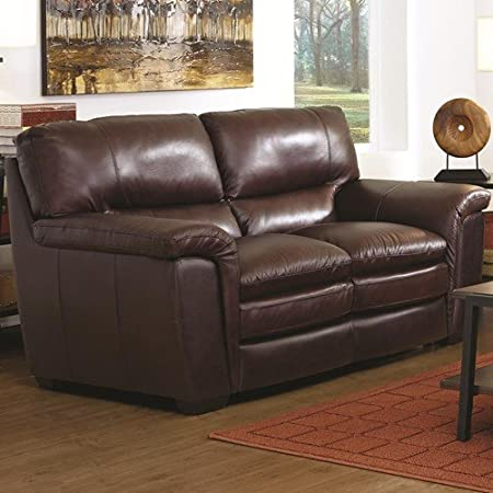 40 in. Loveseat in Brown