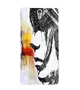Fuson Cute Girl Back Case Cover for SONY XPERIA C5 ULTRA - D3682