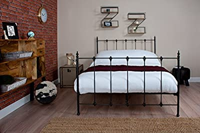 "Silentnight Kingsize 5'0"" Carrington Black Metal Bed Free Next Day Delivery"