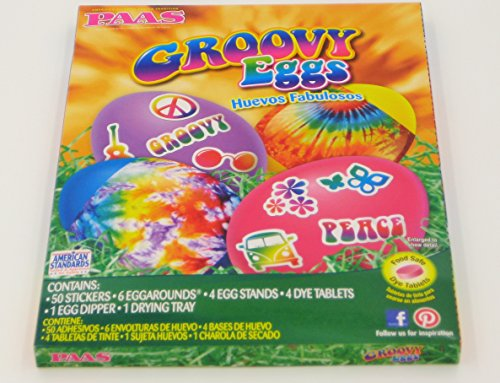 Paas Groovy Eggs Easter Egg Coloring and Decorating Kit