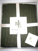 Lauren Ralph Lauren Cotton Cable Knit Throw Blanket 50quot X 70quot Olive Green