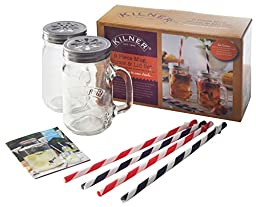 Kilner 9 Piece Mug Lid and Straw Set