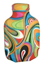 Warm Tradition RAINBOW SWIRLS Fleece Covered Hot Water Bottle - Bottle made in Germany, Cover made in USA