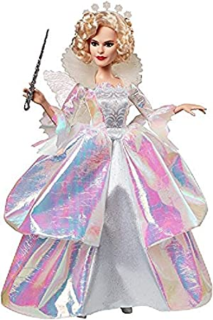 Disney Princess Cinderella Fairy Godmother live-action Doll Plush Collection