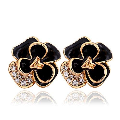 Womens Fashion Plum Flower Stud Earrings Blossom Exquisite Fashion Resin Stud Earring-LanceStore (Plum Blossom Princess Costume)
