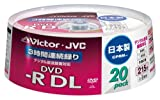Victor 映像用DVD-R 片面2層 CPRM対応 8倍速 ホワイトプリンタブル 20枚 日本製 VD-R215CS20