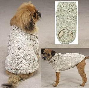 Dog Sweater - Dublin Knit/Irish Knit Pet Sweater Oatmeal - Small