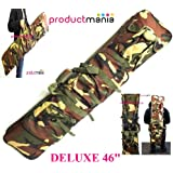 """DELUXE 46"""" WIDE TACTICAL CAMO PADDED RIFLE GUN BAG CARRY SLIP/CASE AIR SHOOTING"""
