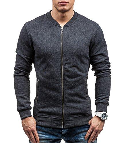 BOLF - Felpa senza cappuccio - Con cerniera - Sweat-shirt - BOLF 43S-B - Uomo - XL Anthracite [1A1]