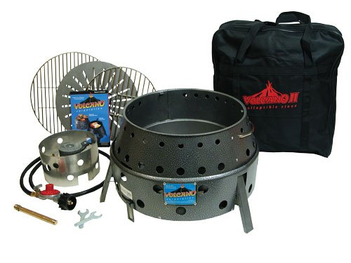 Volcano II Collapsible Stove with Attachments