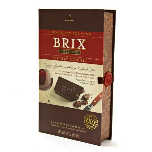 Brix Chocolate for Wine 4 Variety Gift Set Collection