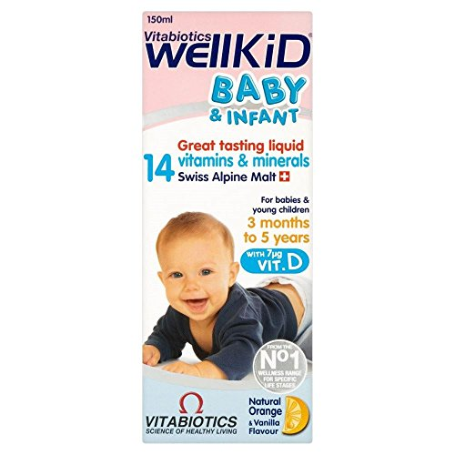 Vitabiotics Wellkid Baby And Infant Vitamins (150Ml)